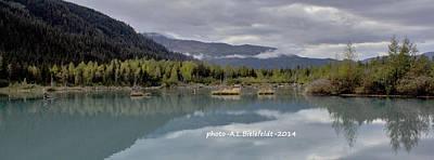 Blue Photograph - Alaska Calm by April Bielefeldt