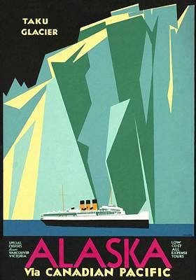 Alaska Canadian Pacific - Vintage Poster Restored Art Print