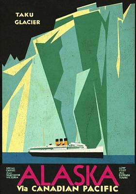 Alaska Canadian Pacific - Vintage Poster Vintagelized Art Print