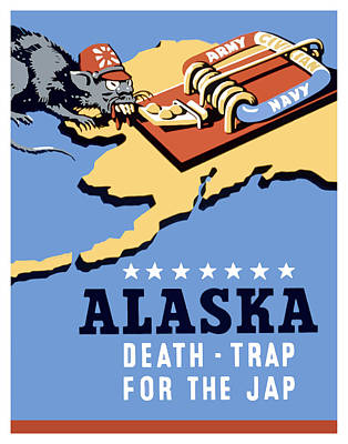 Death Wall Art - Painting - Alaska Death Trap by War Is Hell Store