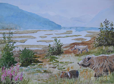Painting - Alaska - Denali 2 by Christine Lathrop