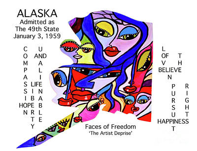 Painting - Alaska by Deprise Brescia