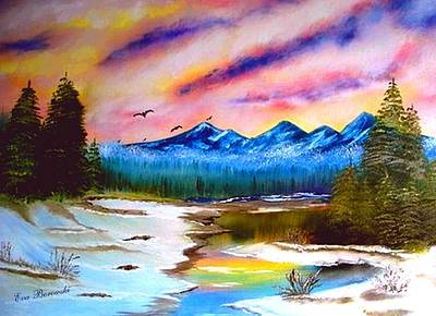 Alaska Art Print by Eva Borowski