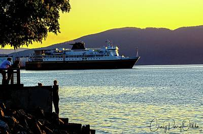 Photograph - Alaska Ferry At Sunset by Craig Perry-Ollila