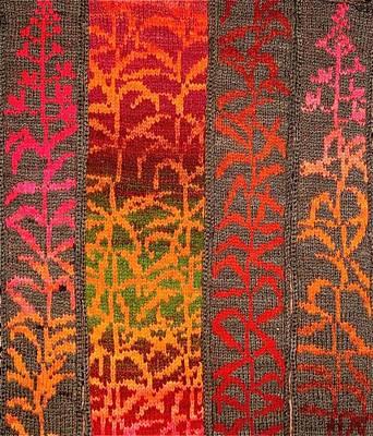Sewing Mixed Media - Alaska Fireweed by Carolyn Doe