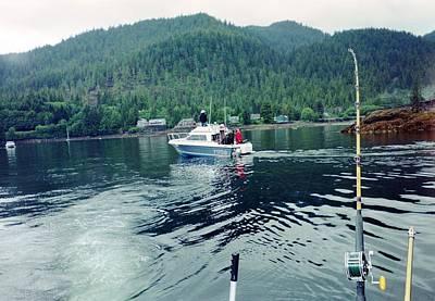 Art Print featuring the photograph Alaska Fishing by Judyann Matthews