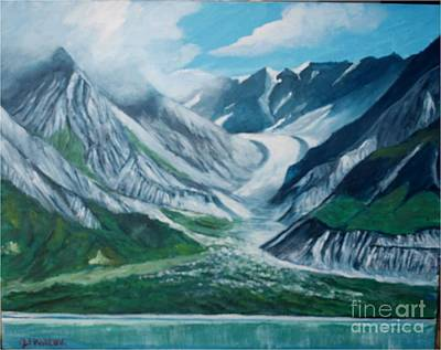 Painting - Alaska Glacier Bay Park by Jean Pierre Bergoeing