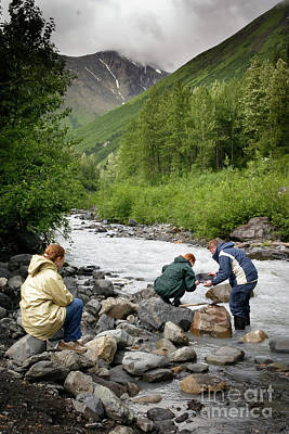 Photograph - Alaska Goldpanning by Richard Smith
