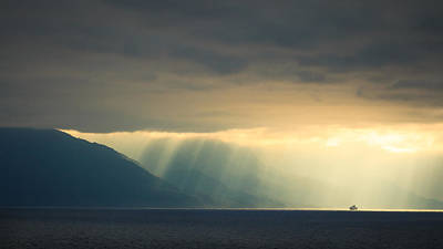 Photograph - Alaska Inside Passage Under The Clouds by Joni Eskridge