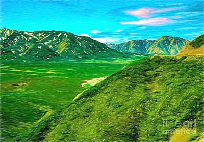 Digital Art - Alaska Mountains 20apacp2 by Doug Berry
