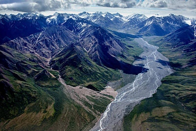 Linda King Photograph - Alaska Mountains Aerial 1380 by Linda King