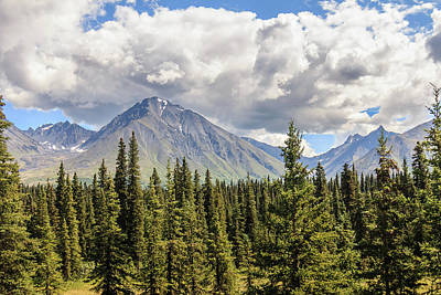 Photograph - Alaska Mountains Under Cloudy Sky by Joni Eskridge