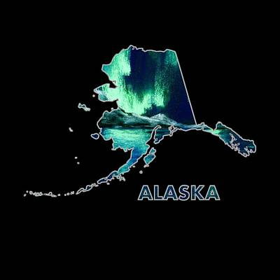 Waves Digital Art - Alaska - Northern Lights - Aurora Hunters by Anastasiya Malakhova