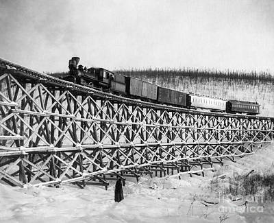 Photograph - Alaska: Railroad, 1916 by Granger