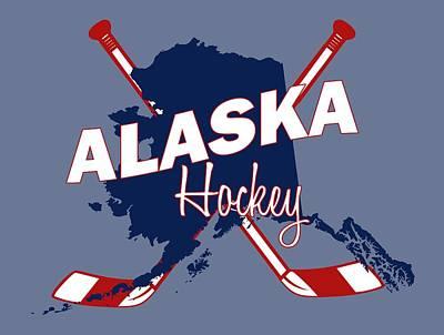 Alaska State Hockey Art Print