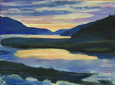 Painting - Alaska Sunset, Juneau by Yulia Kazansky