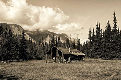 Photograph - Alaska Trapper Cabin by Fred Denner