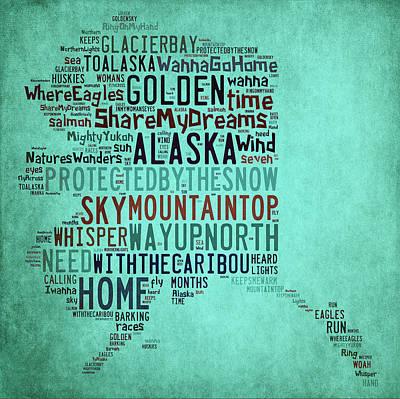 Digital Art - Alaska - Way Up North by Paulette B Wright