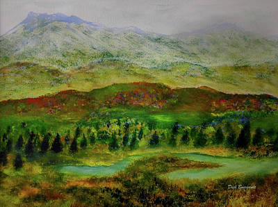 Painting - Alaskan Autumn by Dick Bourgault