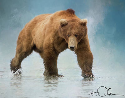 Digital Art - Alaskan Brown Bear Boar by Gloria Anderson