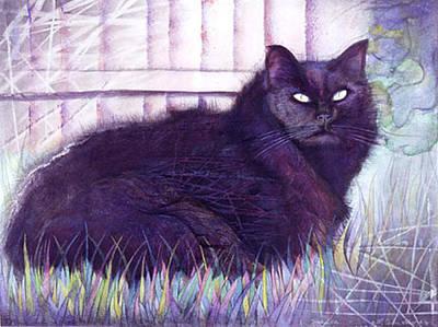 Drawing - Alaskan Cats by Ceilon Aspensen