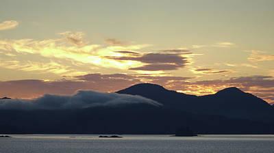 Photograph - Alaskan Coast Sunset, View Towards Kosciusko Or Prince Of Wales  by David Halperin