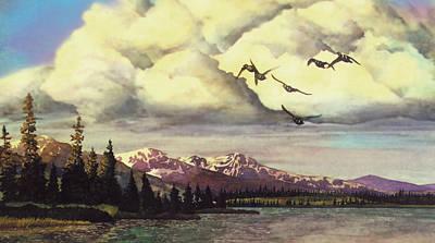Painting - Alaskan Flight by Douglas Castleman