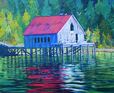 Painting - Alaskan Gear Shed by Donna Drake