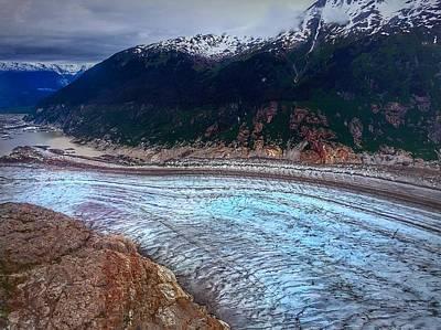 Photograph - Alaskan Glacier by Anne Sands