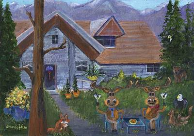 Painting - Alaskan Happy Hour by Jamie Frier