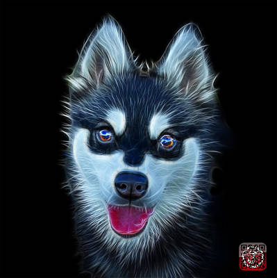 Painting - Alaskan Klee Kai - 6029 -bb by James Ahn