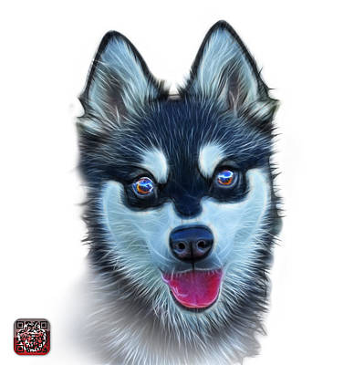 Painting - Alaskan Klee Kai - 6029 -wb by James Ahn