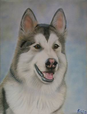 Painting - Alaskan Malamute by Bas Hollander