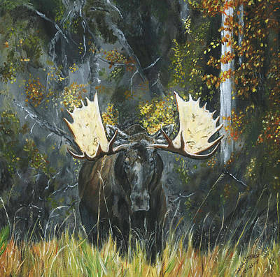 Painting - Alaskan Moose  by Sara Stevenson