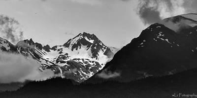 Alaskan Mountain Range Art Print