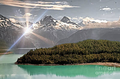 Alaskan Mountain Reflection Art Print