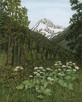 Painting - Alaskan Mountains by Lucinda VanVleck