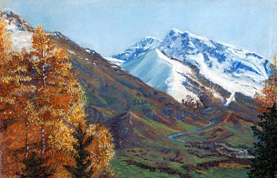 Painting - Alaskan Mountains by Sister Laura McGowan