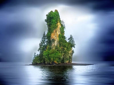 Photograph - Alaskan Mystic Island by Don Wolf