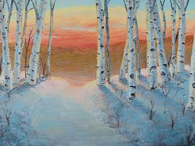 Painting - Alaskan Road by Art Nomad Sandra Hansen