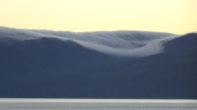 Photograph - Alaskan Sunset, View Towards Kosciusko Or Prince Of Wales Islands by David Halperin