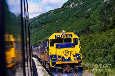 Alaskan Train 3010 Art Print by Bill and Deb Hayes