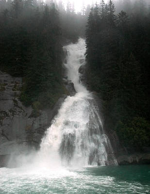 Photograph - Alaskan Waterfall by Harry Spitz