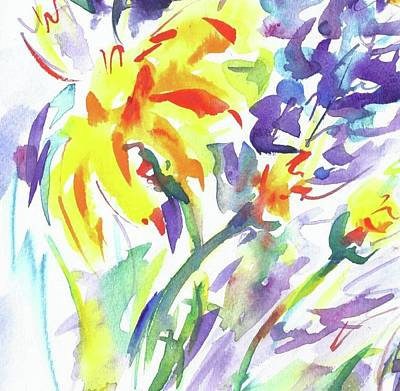 Alaskan Wildflowers Art Print
