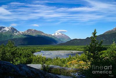Alaska's Exit Glacier Valley Art Print