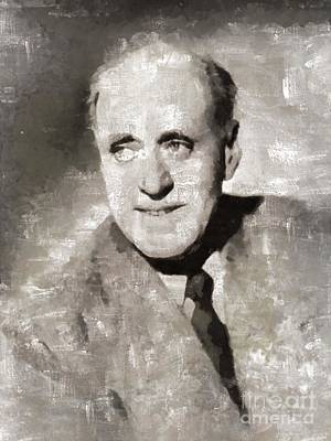Elvis Presley Painting - Alastair Sim, British Actor by Mary Bassett