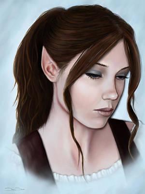 Elven Digital Art - Alatariel by Stephanie Shimerdla