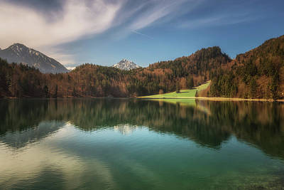 Bavarian Photograph - Alatsee No 2 by Chris Fletcher