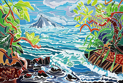Hana Painting - Alau Island by Fay Biegun - Printscapes