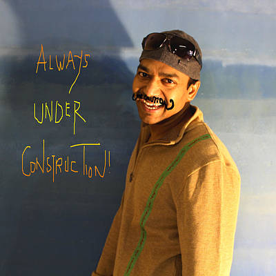 Painting - Always Under Construction by Mr Caution